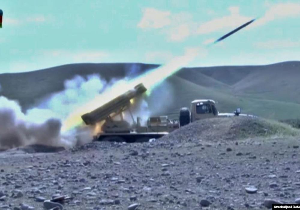 Photo from Azerbaijani defense ministry. September 30, 2020